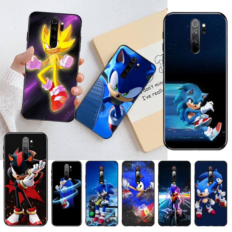 PENGHUWAN Sonic el Hedgehog Bling teléfono lindo caso para Redmi Nota 8 8A 7 6 6A 5 5A 4 4X 4A ir Pro Plus primer