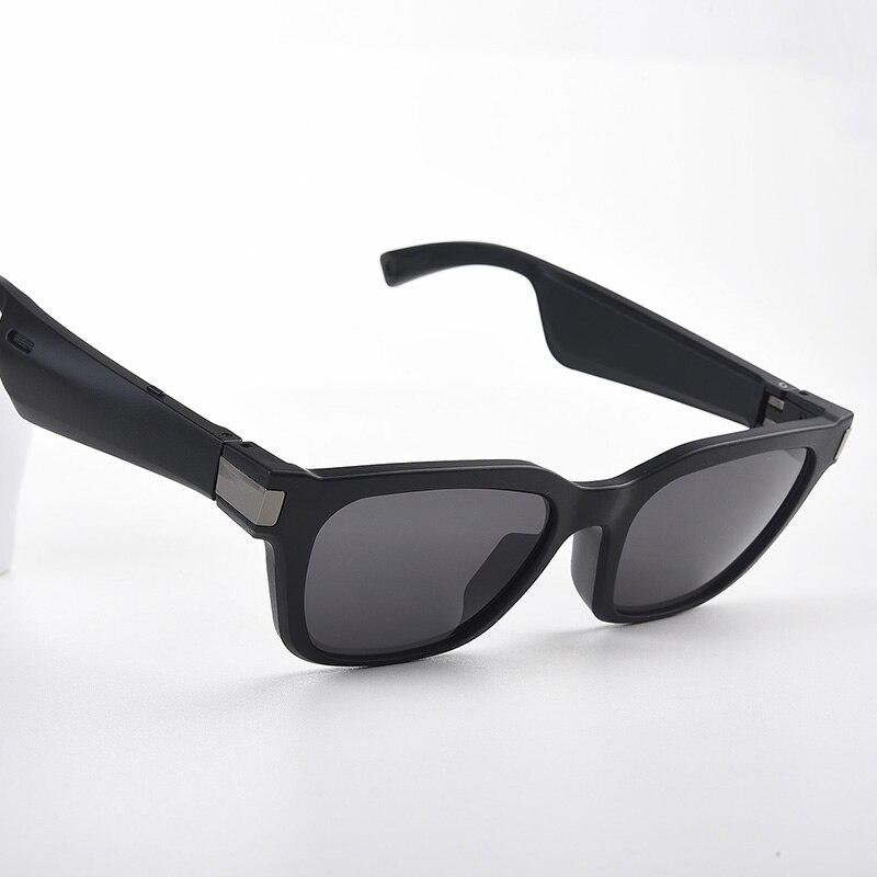 Bluetooth áudio inteligente óculos de sol com microfone aberto fones de ouvido direcional áudio ouvir música e chamadas uv ray proteção