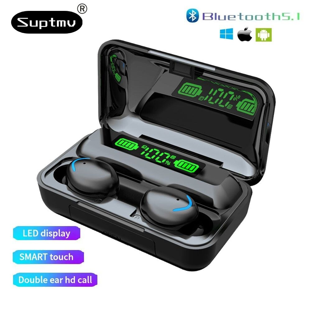 Wireless Headphone TWS Bluetooth 5.0 Sports Smart Digital Display 9DStereo  Earbuds Headsets With Mi