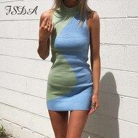 Трикотажное двухцветное платье Посмотреть