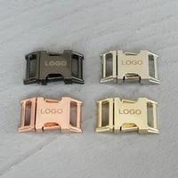 logo 20 pcs 15mm laser engraving metal quick side release buckles for webbing tactical belt safety strong hooks clips diy