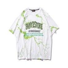 2021 hot style Pop T-Shirt Men Dark Lightning Hip Hop T-Shirt Summer Cotton Harajuku T-Shirt
