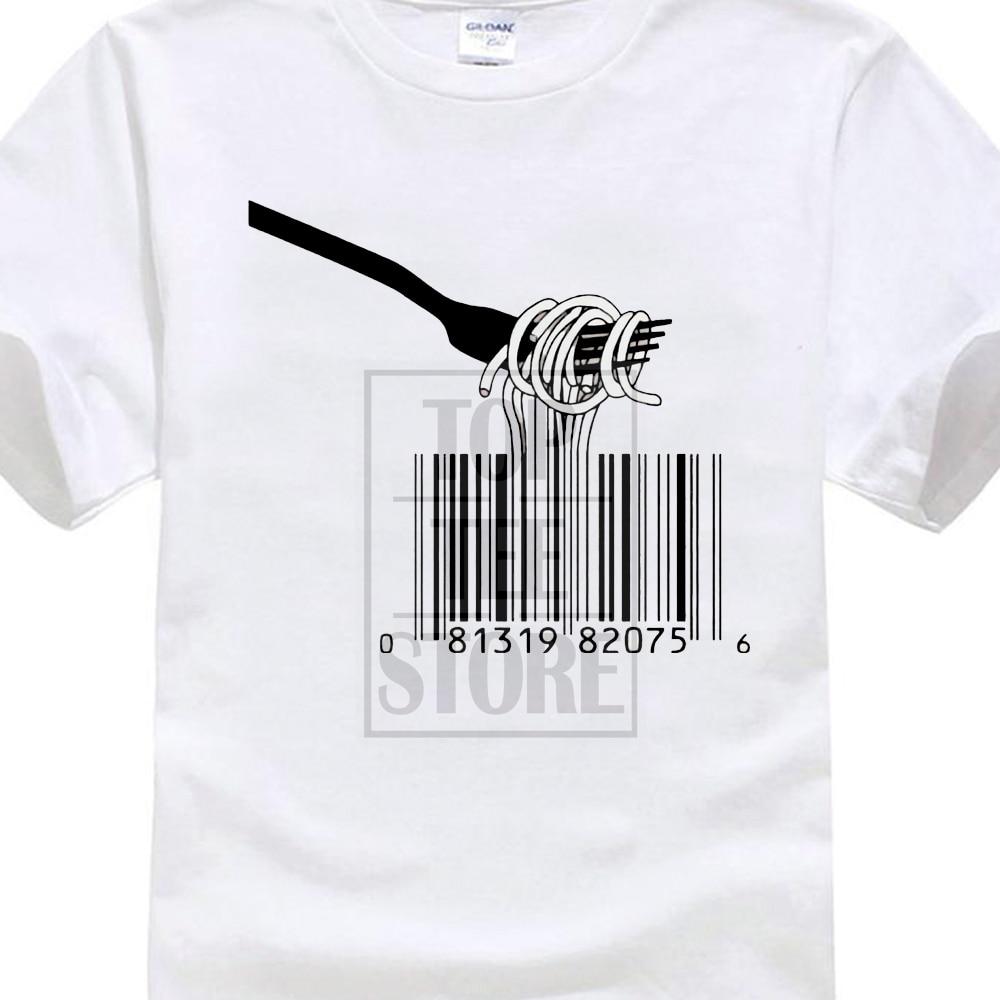 Camiseta Unisex estilo Banksy con código de barras Spaghetti Insta Tumblr Ideal como regalo para verano 017838