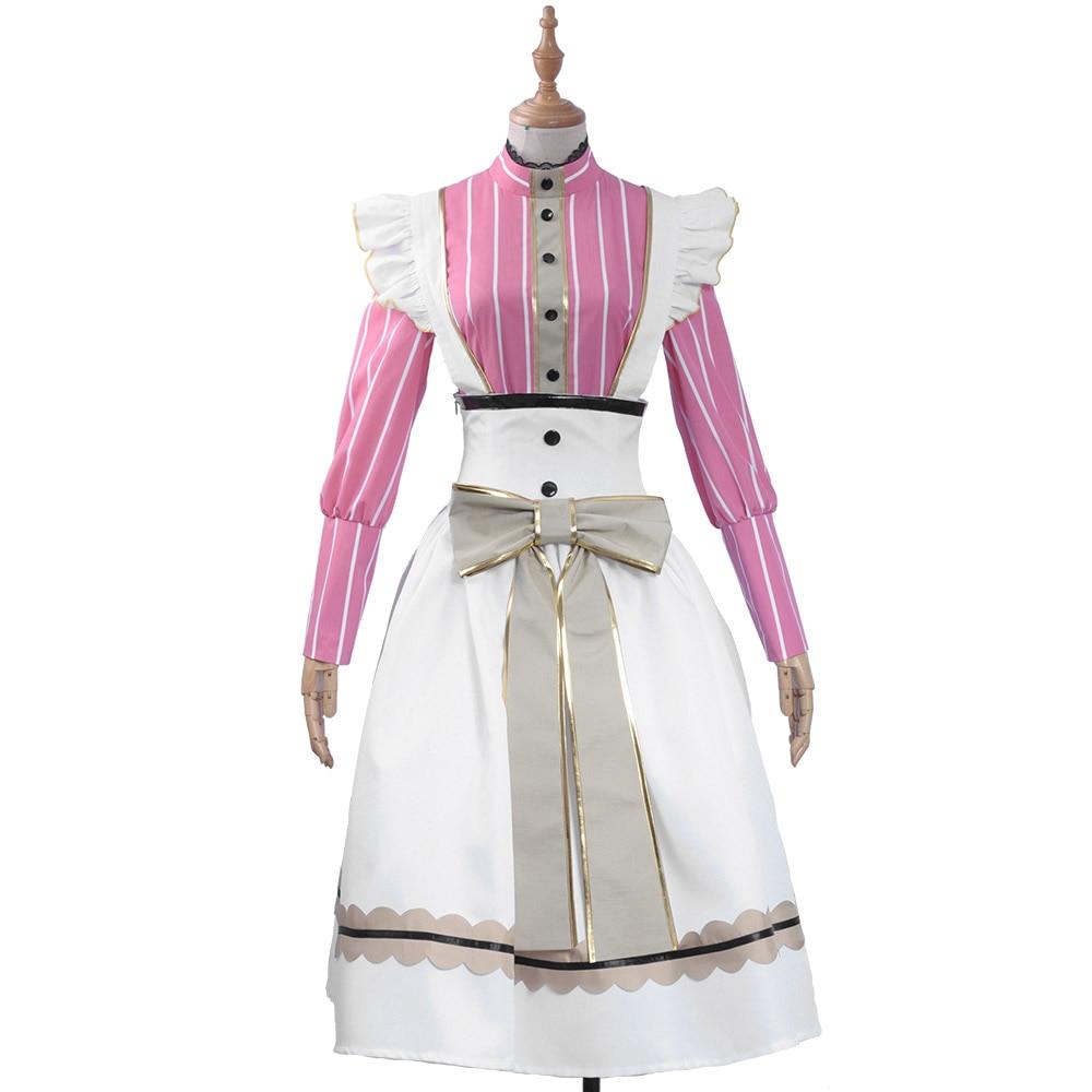Anime lovelive yazawa nico chá festa maid undesperted série cosplay traje para halloween carnaval festa vestido traje