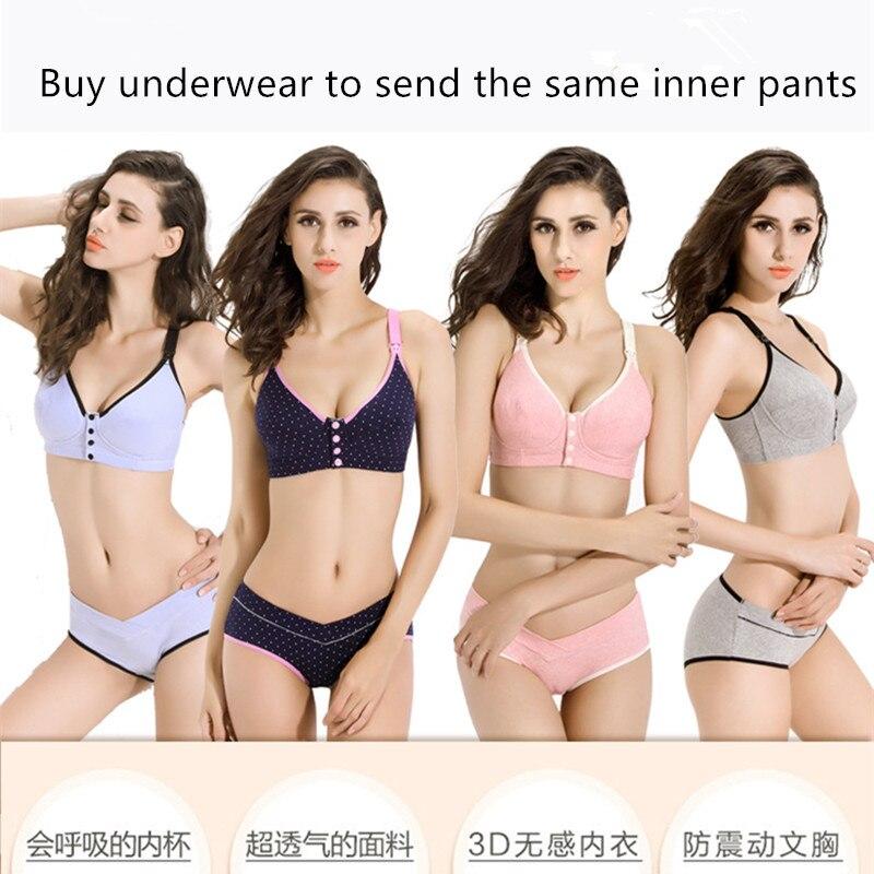 Pregnant women underwear set pregnancy breast bra underwear cotton nursing bra underwear breastfeeding suit