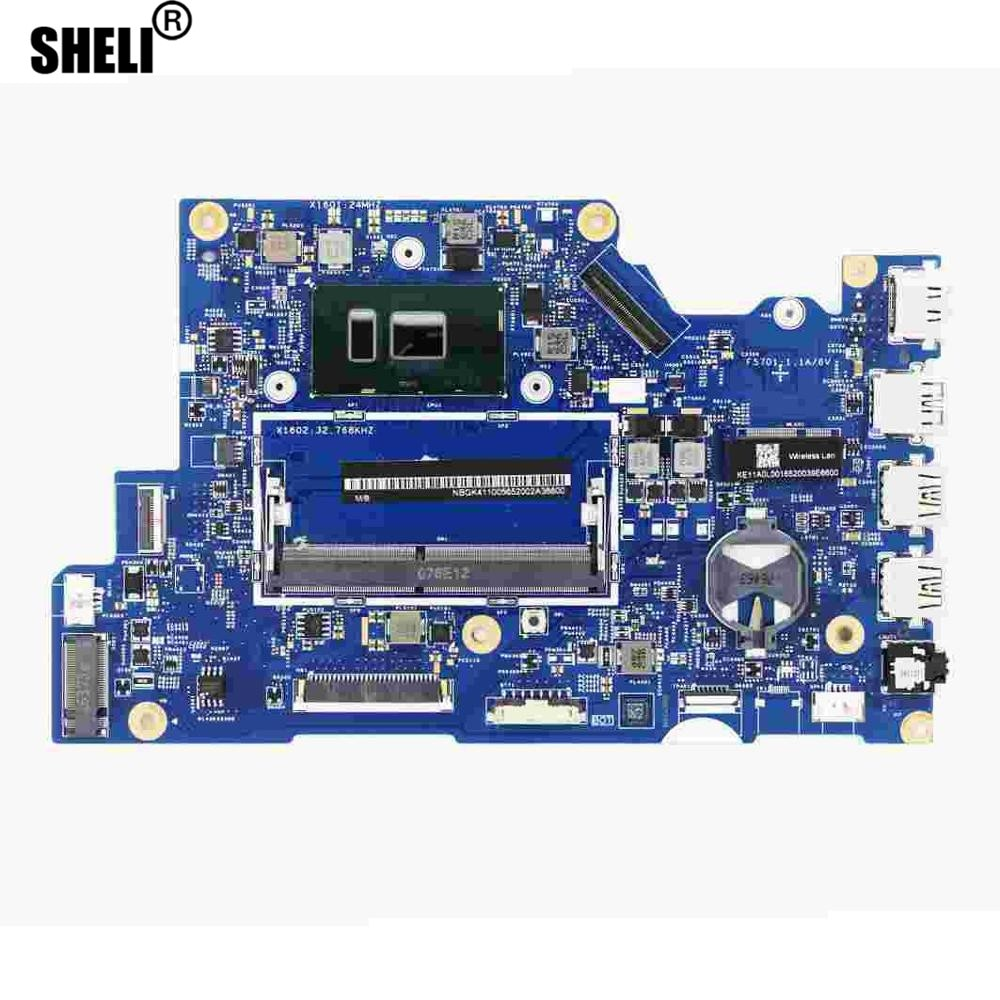 NB.GK411.005 NBGK411005 portátil DDR4 placa base 16801-1M 448.016A5.001M w/ i5-7200u CPU para portátiles Acer Spin 5 SP513-51