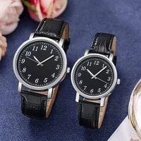 womens mens watches couple watches simple fashion quartz watches pu leather gift watches