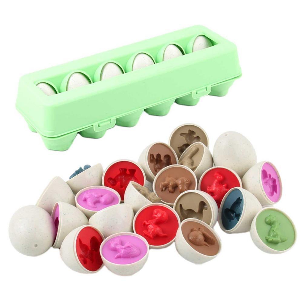 12 pcs set simulacao brinquedo do ovo ovo inteligente matching torcida presentes