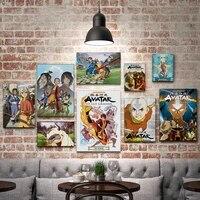 WTQ     toile de peinture davatar le dernier maitre davion  affiche Vintage  affiches et imprimes  decor mural  Art mural  decor de salle  decoration de maison