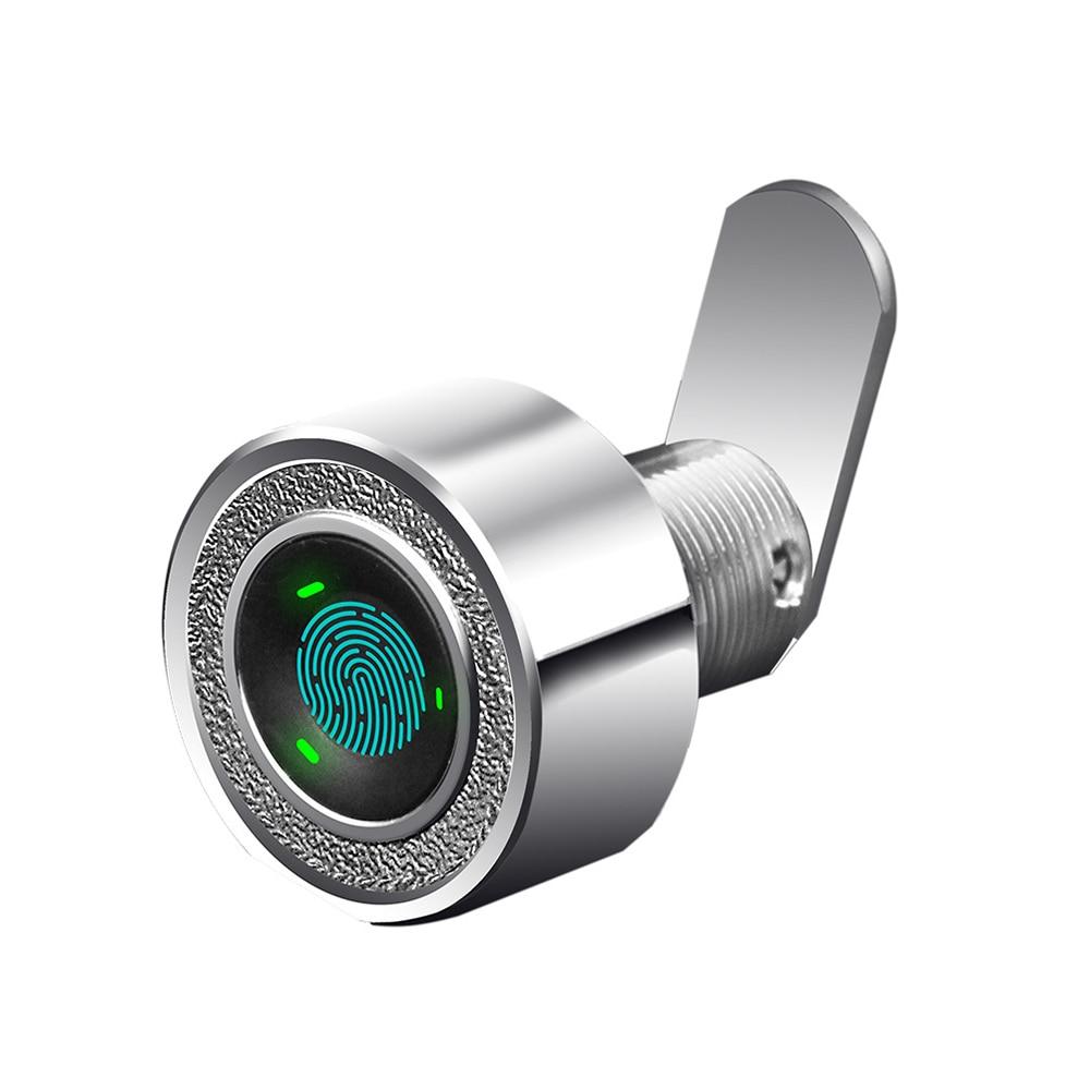 Zinc alloy Keyless Mini Fingerprint cabinet lock biometric electric for drawer strongbox