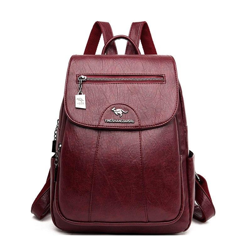 حقيبة للظهر فينتاج نساء مدرسة مقاوم للماء حقيبة سفر جلدية فاخرة على ظهره حقائب مدرسية للفتيات