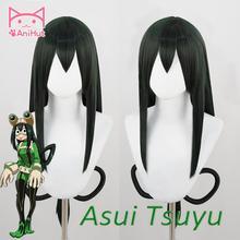 【Anihuto】 Asui tsuyu Peluca de Froppy Boku No Hero Academia Peluca de Cosplay Anime My Hero Academia Cosplay Peluca de pelo verde Asui tsuyu