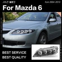 AKD Car Styling Head Lamp for Mazda 6 Headlights 2004-2012 Mazda6 All LED Headlight LED DRL Dynamic Signal Angel Eye Accessories