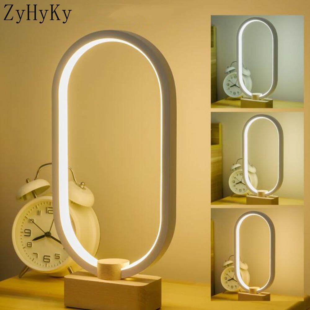 LED يعتم طاولة خشبية صلبة مصباح غرفة نوم السرير ضوء الليل الإبداعية ديكور المنزل فريد هووسورمينغ هدية 3 لون مصباح