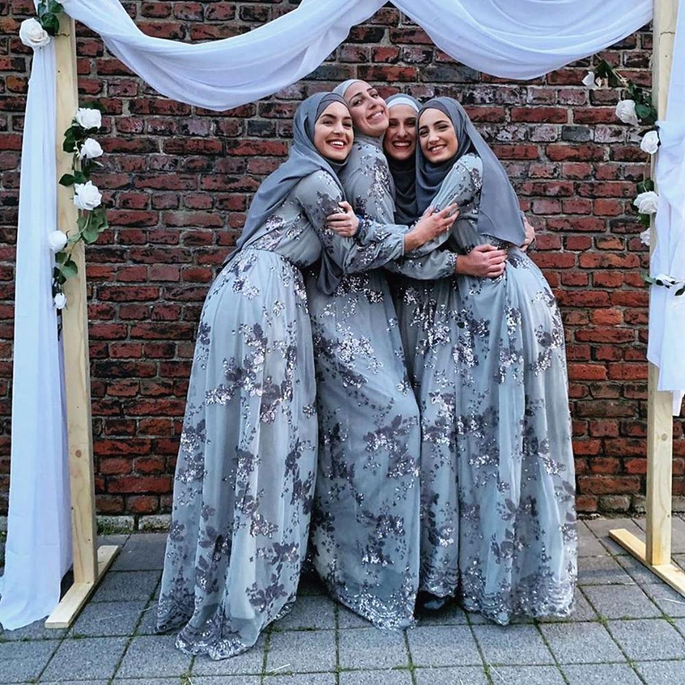 Musulmán lentejuelas Abaya Dubai vestidos turcos vestido hijab abayas para damas caftán Kaftan túnica islámica ropa tesetture Elbise