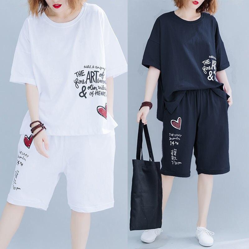 Conjunto de dos piezas de verano, pijamas de mujer de hasta 20lb, pijamas holgados de tamaño grande, triangulación de envíos