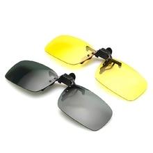Car Night Driving Glasses Clip On Sunglasses For Men Women Night Vision Glasses Anti-glare UVA Drive
