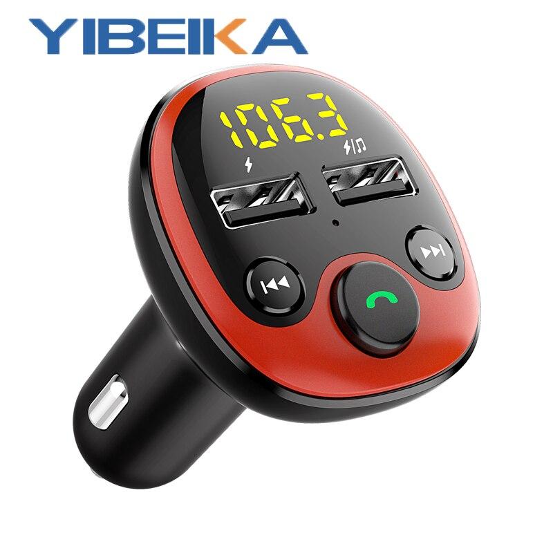 Комплект fm-модулятора Transmisor YIBEIKKA, Bluetooth, inframbrico para coche, воспроизводитель аудио MP3