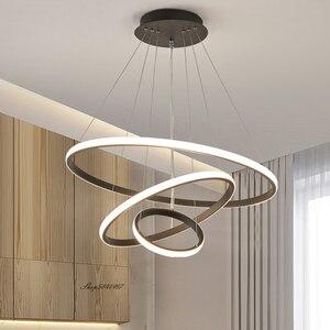 Modern Led Rings Pendant Lights Designer Circle Ceiling Hanging Lamps for Living Room Bedroom Home Decor Dining Room Hanglamp
