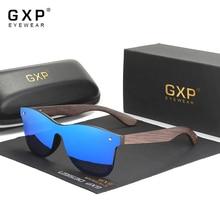GXP 2021 Technology Handmade Blackened Bamboo Men Women Sunglasses Mirror Polarized UV400 Lens Eyewe