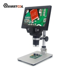 1-1200X G1200 مجهر رقمي مجهر فيديو إلكتروني 7 بوصة شاشة الكريستال السائل 12MP مكبر مكبر مستمر مع البطارية