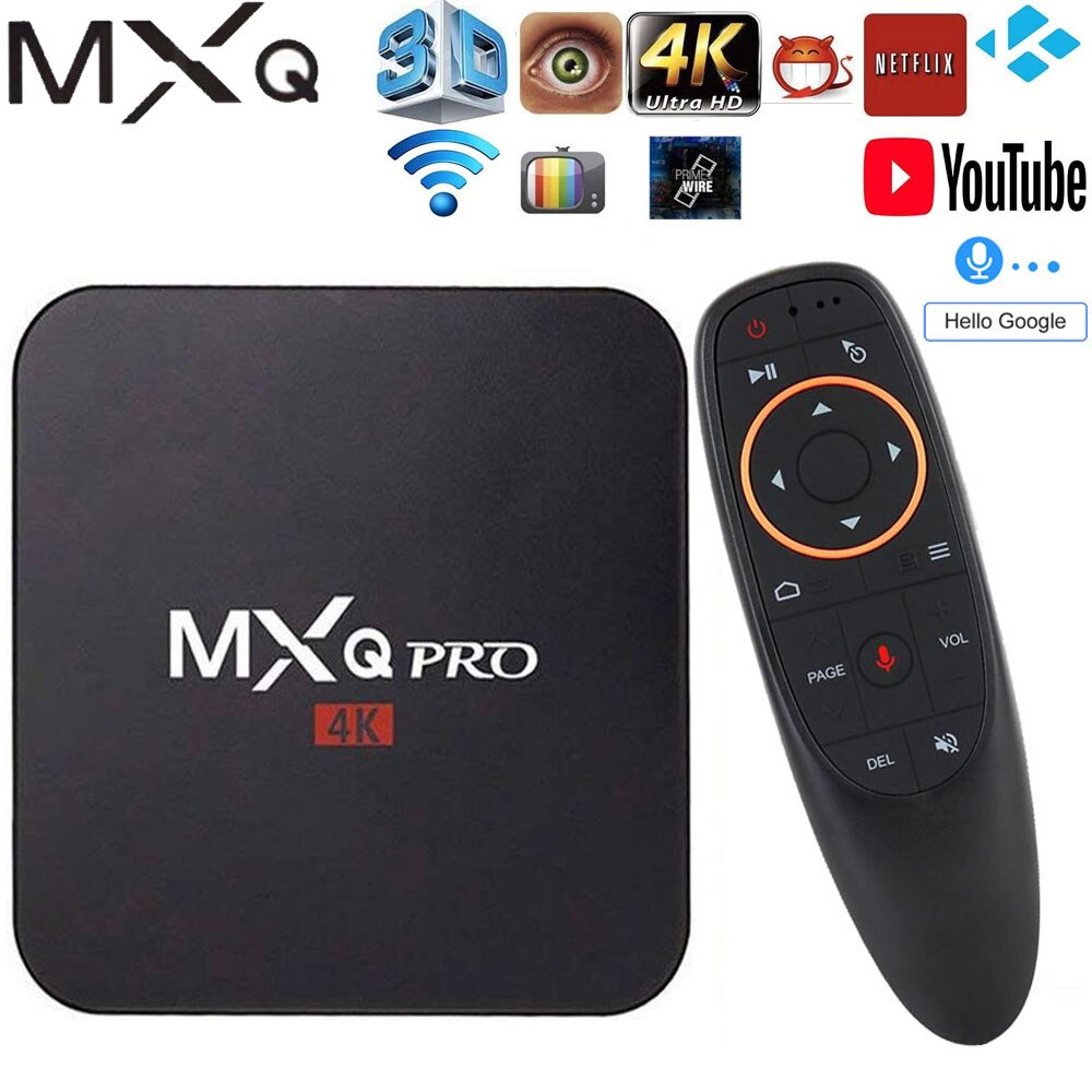 Mxq pro android 7.1 smart tv box 2gb ram 16gb amlogic s905w chip 2.4g wifi 4k google netflix youtube media player conjunto caixa superior