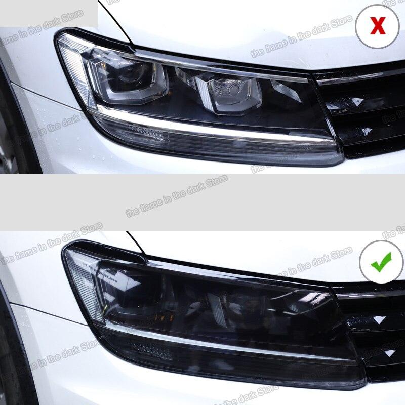 Lsrtw2017 TPU Transparent Schwarz Auto Scheinwerfer Schutz Film für Volkswagen tiguan 2017 2018 2019 2020 anti-scratch aufkleber