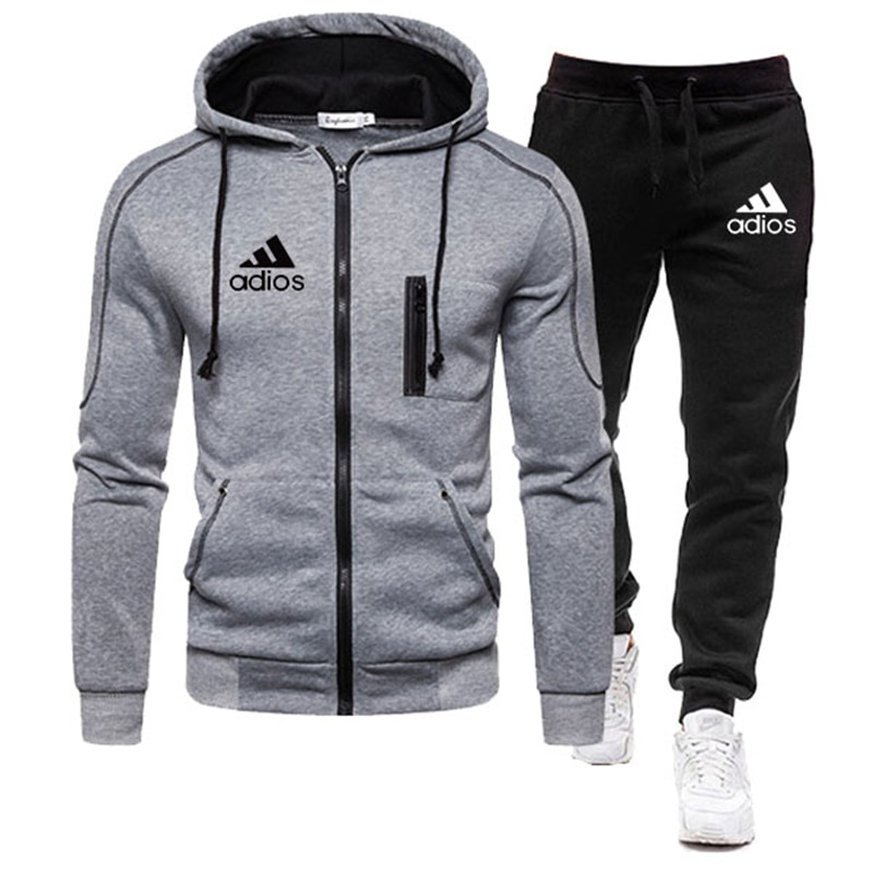 2020 Tracksuit Men Clothing Two Pieces Set Jacket+Pant chandal hombre marca Track Suit Sportswear Hooded Sweatshirts Male Sets