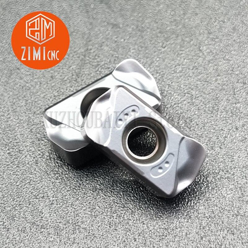 LNMU0303ZER-MJ AH725 de doble cara de alimentación rápida, cuchilla de fresado rugosa abierta, fresado rápido, ángulo R1.2, fresado de cuatro ángulos de doble cara