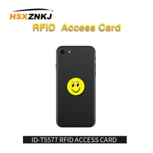 5 unids/lote RFID 125Khz T5577 grabable EM4305 etiquetas de dibujos animados Anti interferencia de Metal pegatinas tarjeta de proximidad etiqueta para copiadora RFID