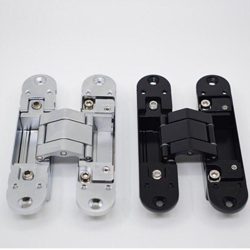 مفصلات الأبواب الخفية مفصلات غير مرئية مفصلات غير مرئية سبائك الزنك 180 درجة سوينغ المفصلي 3 طريقة تعديل بعقب المفصلي (1
