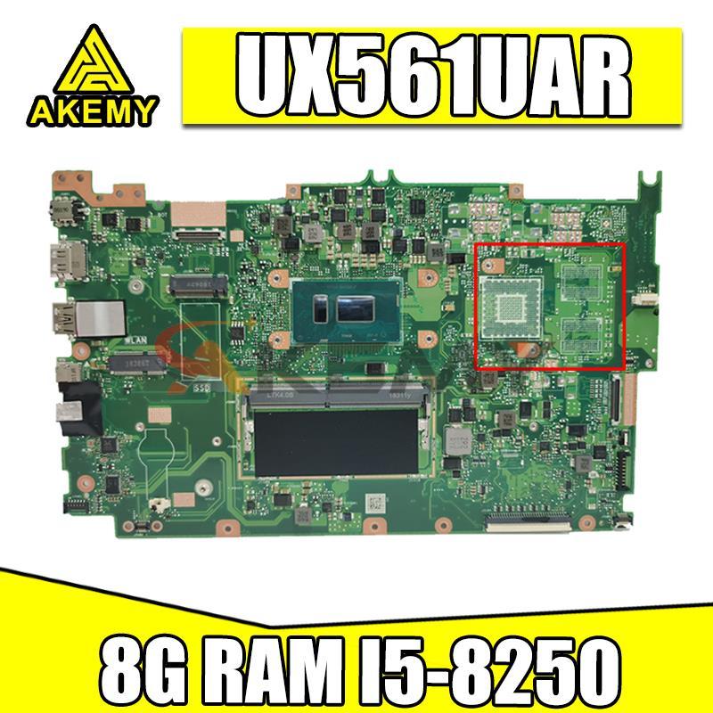 ل ASUS ZenBook Flip UX561UA Laotop اللوحة الرئيسية I5-8250U 8 جرام RAM UX561UAR اللوحة اختبار شحن مجاني