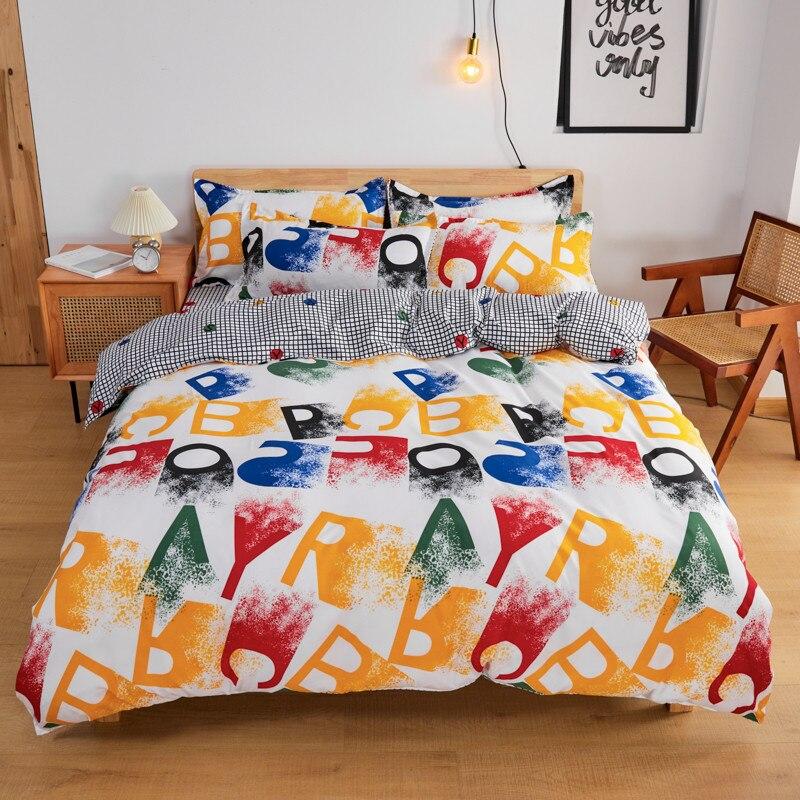 Классические Комплекты постельного белья, роскошный качественный комплект с пододеяльником, постельное белье, набор простыней, хлопковое ...
