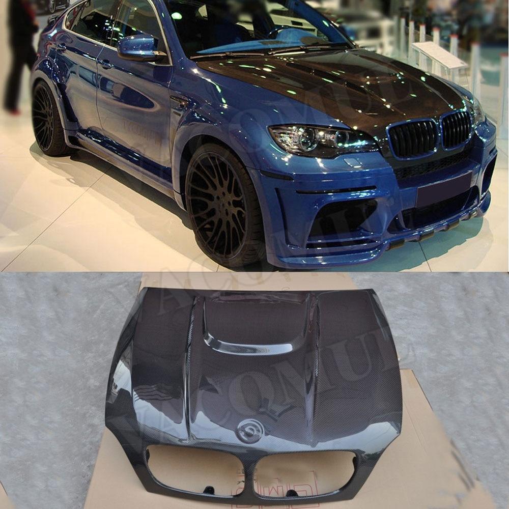 Carbon Fiber Front Engine Hood Vent Bonnet Cap Cover For BMW X5 E70 X6 E71 2007-2013 body kits Car styling