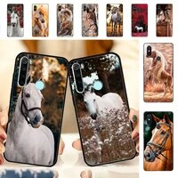 yndfcnb horse animal cute phone case for redmi note 7 8 9 6 5 4 x pro 8t 5a