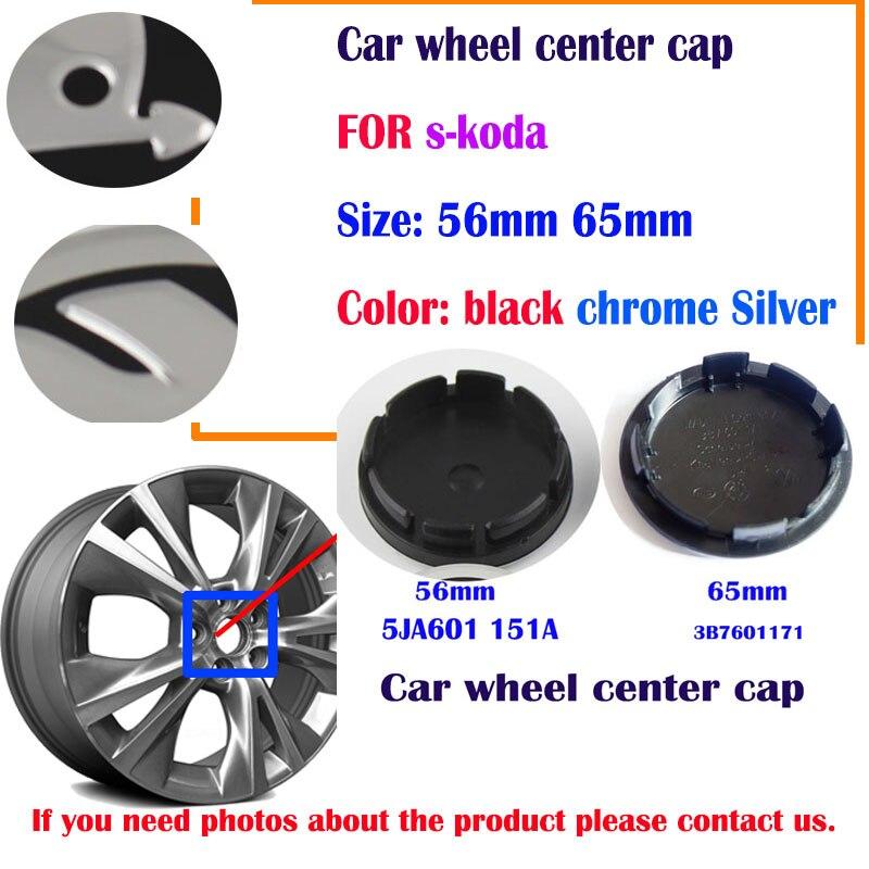 20 stücke 56mm 65mm schwarz silber auto Rad Center Caps für 5AJ60171 3B760 1 171