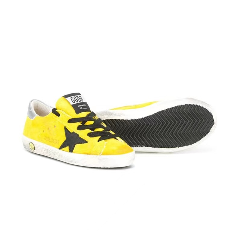 2021 Spring and Summer New Lemon Yellow Ox Velvet Children Retro Old Small Dirty Shoes Boys and Girls Casual Kids Shoes CS195 enlarge