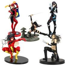 X-Mannen Cijfers Bishoujo Standbeeld X-23 Wolverine Psylocke Lady Deadpool Domino Spider Vrouw Pvc Action Figure Collectible Model Toy