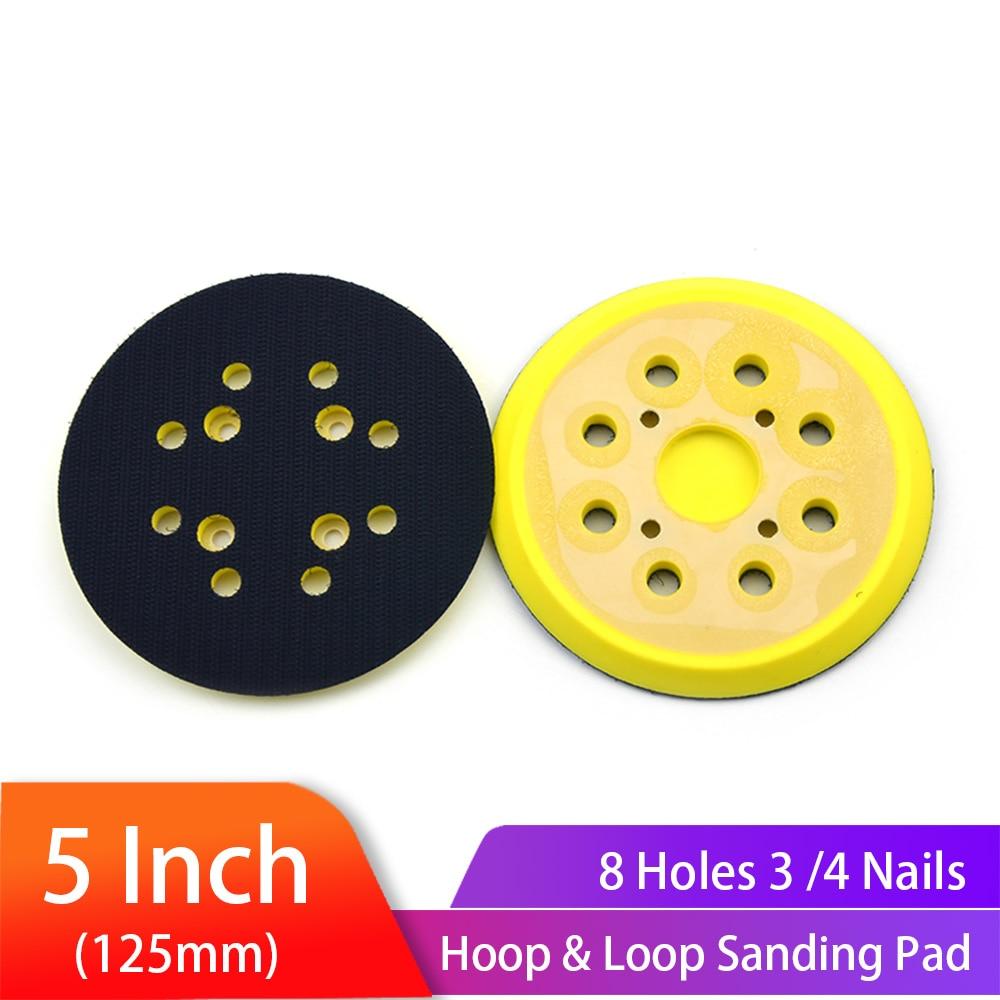 5 inch 125 mm 8 gaten 3/4 nagels steunschijf klittenband schuurzolen voor luchtschuurmachines polijstmachines