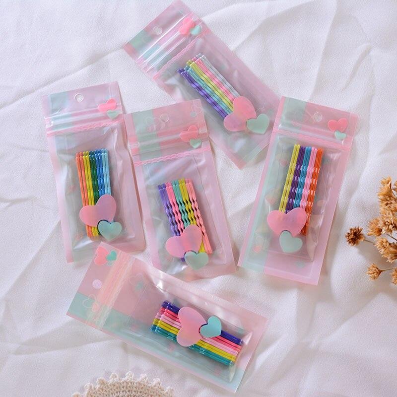 10 unids/set de Clip para el cabello de Color caramelo, horquillas onduladas rizadas para mujer, horquillas para el pelo, horquillas para mujer, accesorios para el cabello con estilo