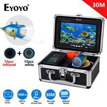 Eyoyo – détecteur de poisson sous-marin EF07PRO 1000TVL 7 pouces, caméra de pêche, 12 LED blanches + 12 lampes infrarouges, étanchéité IP68