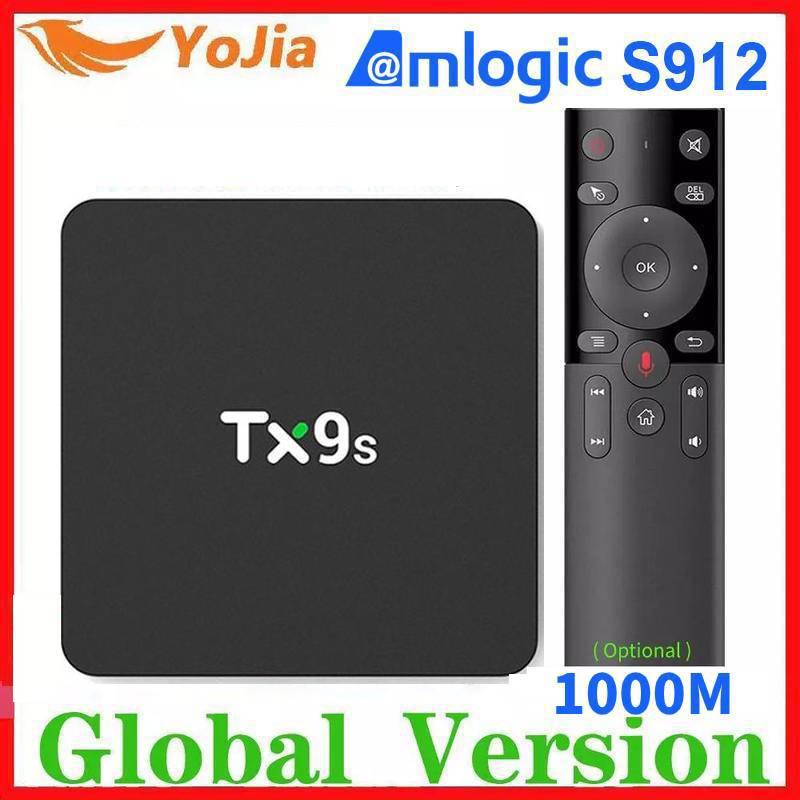 Amlogic S912 TX9S Smart Android TV Box Octa Core Set Top Box 2.4G Wifi Media Player 2G/8G TVBOX Youtube Google