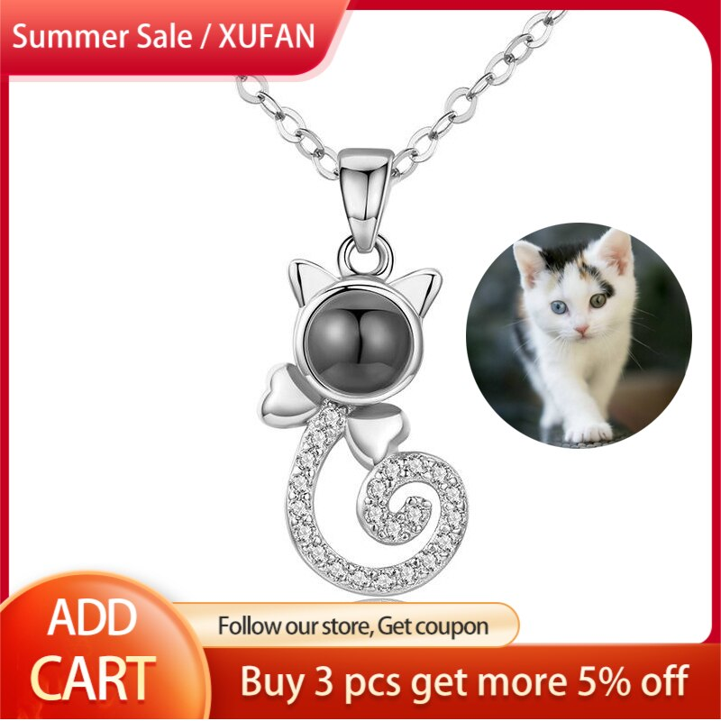 ailodo fashion cactus pendant wish card necklace gold silver color make a wish necklace party banquet jewelry girls gift 20feb20 New Arrival Custom Cat Pet Photo Projection Necklace Pendant Brand Design Gold Silver Color Couple Pendant Fashion Jewelry Gift