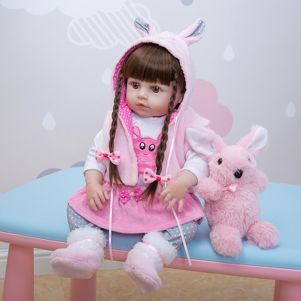 KEIUMI-دمية سيليكون واقعية بجسم كامل 48 سنتيمتر للبنات ، ألعاب أطفال ، هدايا أعياد الميلاد وعيد الأطفال