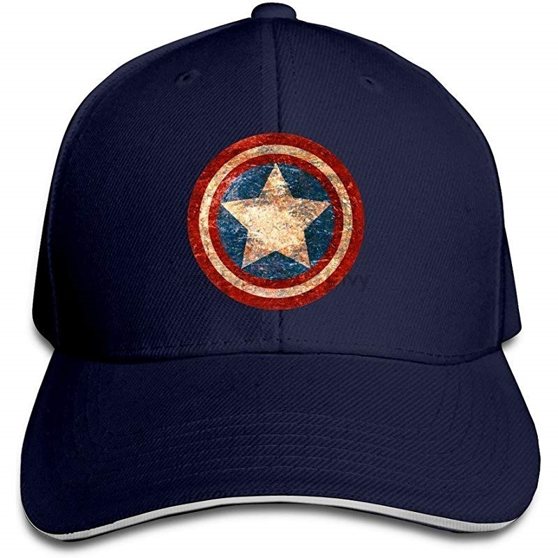 BOoottty gorra del equipo del Capitán Rogers desteñido escudo Flex gorra de béisbol negro