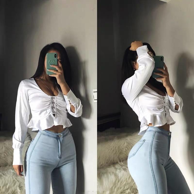 2000s Aesthetic Jeans Woman High Waist Sexy Tight Hip Lifting Leggings Pants High Waist Elastic Female Streetwear Women Pants