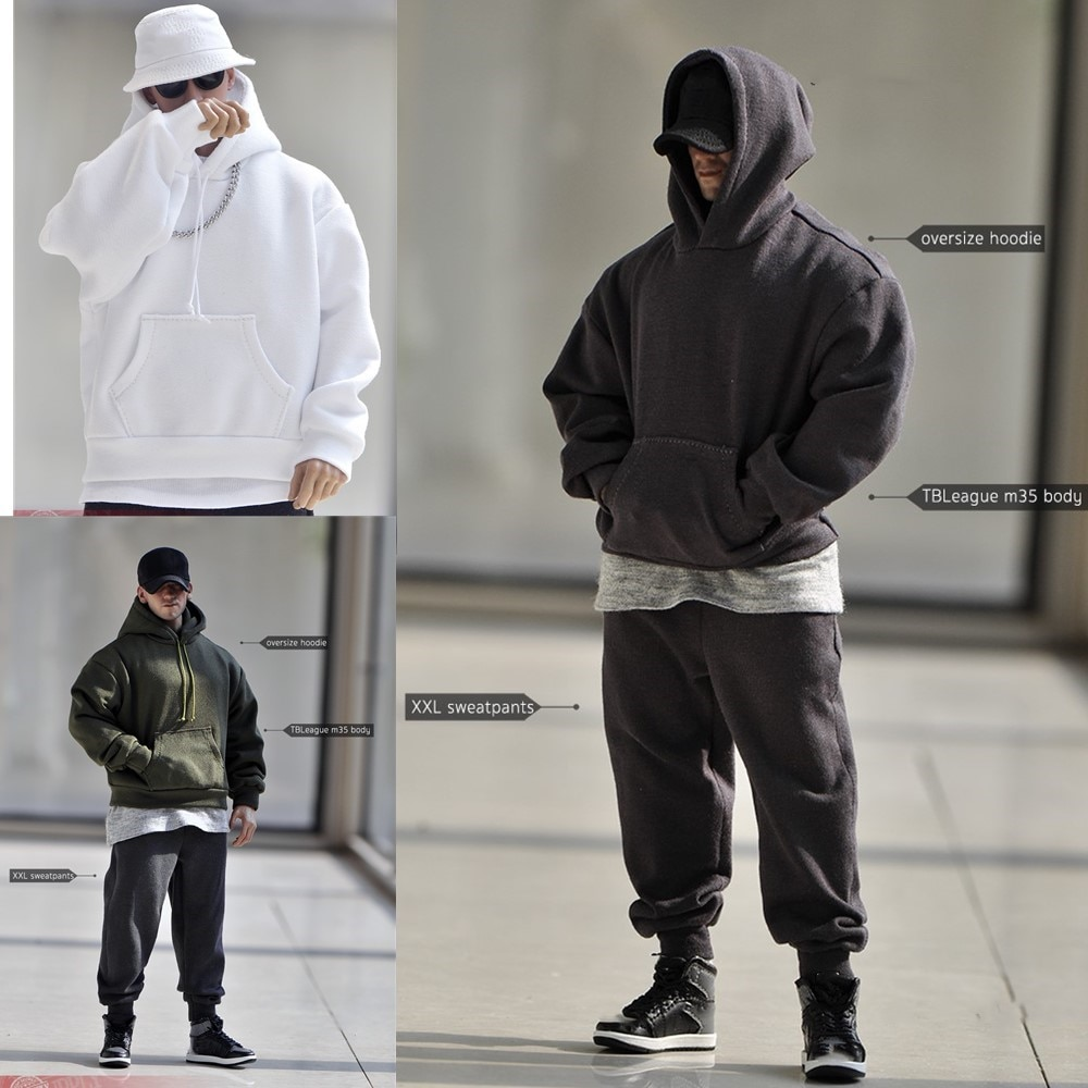 AliExpress - In Stock 1/6 Scale Male Action Figure Casual Soldier's Hoodie Clothing Accessory Model for 12 Inch PH M35 Strong Muscle Body
