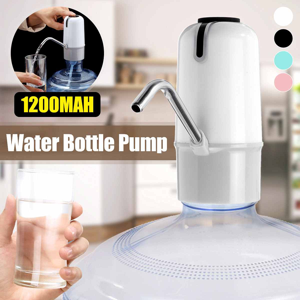 Water Bottle Pump USB Charging Wireless Automatic Drinking Water Pump Portable Electric Water Dispenser Water Bottle Pump Tools