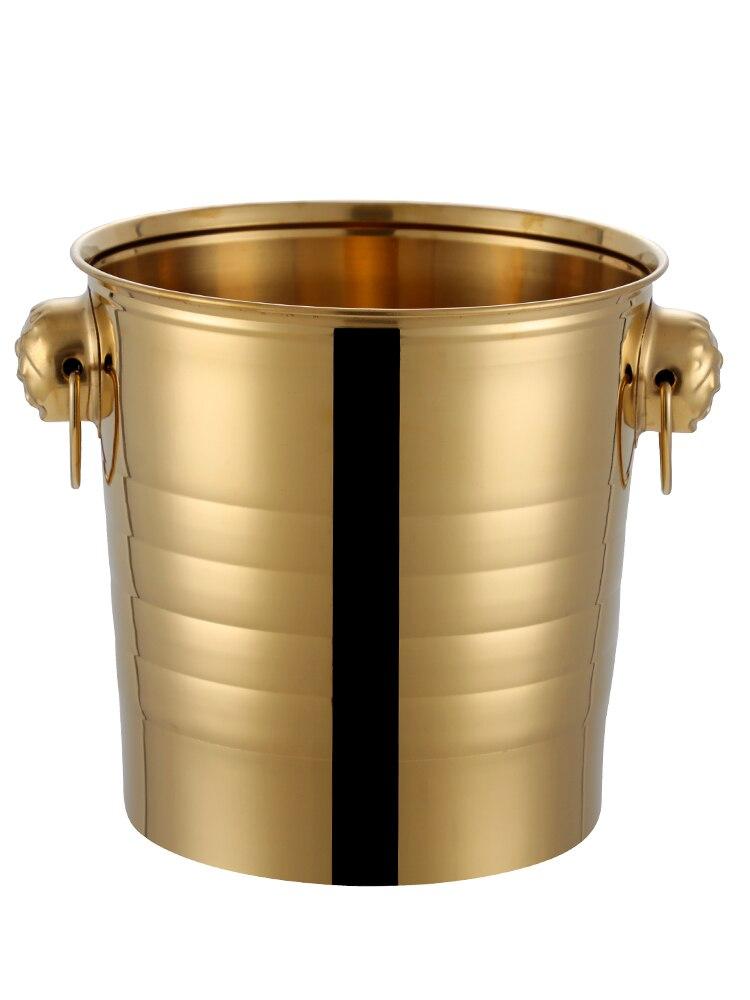 Wisky دلو ثلج للمشروبات البيرة الفولاذ المقاوم للصدأ المطبخ سميكة الجليد دلو الشمبانيا بار Wiaderko سو الشمبانيا اكسسوارات DM50B