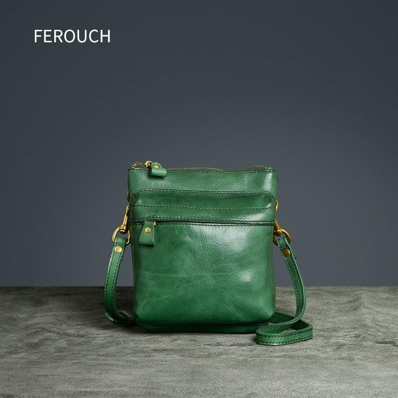 Original Women Bags for Genuine Leather Messenger Bag Retro Handmade Handbags Casual Nordic Mini Flap pillow Shoulder Bag 9017